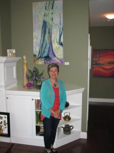 Here I am with some of my works at the 2015 Central Island Artisans' Spring Studio Tour.