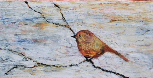 "Chirp $240 24"" x 12"" (Acrylic on Canvas) #1324A"