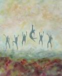 "Jumping For Joy    $495 24"" x 30""   (Acrylic on canvas)     #1209"