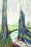 """Rainforest Mist   $720    24"""" x 36""""    Acrylic on canvas          (#1309)"""