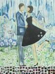 "Spring Romance   $795 30"" x 40""  acrylic on canvas     (#1291)"