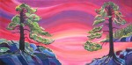 """Pacific Sunset   SOLD 48"""" x 24""""  Acrylic on canvas   (#1157)"""