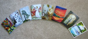 "Art Cards each at 5"" x 7"" Available as singles or in package of 3."