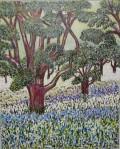 "Arbutus Meadow   $150 16"" x 20""   Acrylic on canvas. (#1005)"