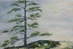 "Sentinel   $595.    36"" x 24""   (Acrylic on canvas)  #1338"