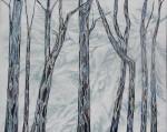"""Grove III.  $995.  30""""x40"""".  Mixed media on canvas.  (#1345)"""