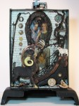 """Unfolding Story.   Three dimensional assemblage.  11.5"""" x 15.5"""" x 4.75"""".  (#1358)  Scroll down for description."""