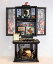 """Every Life Has a Story. 3-D assemblage. Seen in Arabella Magazine. 15"""" wide x 22"""" tall x 6 1/8"""" deep. (#1368) Scroll down for description."""