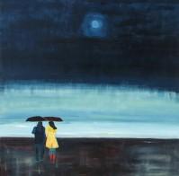 "Walking Together. $995. Acrylic on canvas. 36""x36""x1.5"" (#1438)"