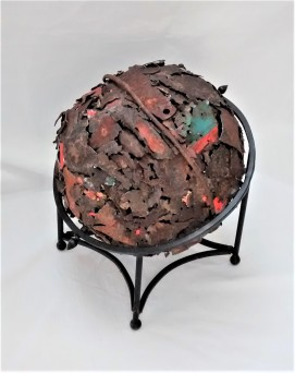 """Fractured. $595. Three dimensional assemblage. 12.75"""" x 11.75""""x 12"""" (#1447)"""