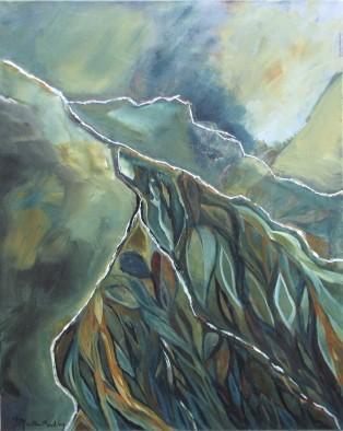 """Forest Light. $595. Acrylic on canvas. 24"""" x 30"""" x 1.5"""". (#1449)"""