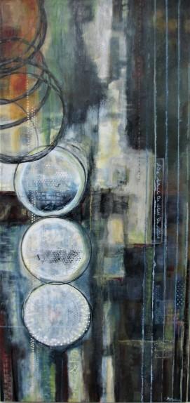 "Be Still. $950. Acrylic on canvas. 24"" x 48"" x 1.5"". (#1293)"