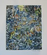 "Cascading Brook. SOLD. Acrylic on canvas board. 8"" x 10"" x 0.1"". (#1460)"