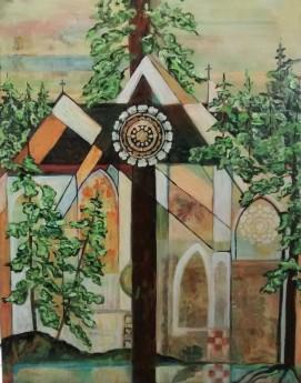 "Spirit of Peace. $495. Acrylic on canvas. 24"" x 30"" x 1.5"" (#1450)"