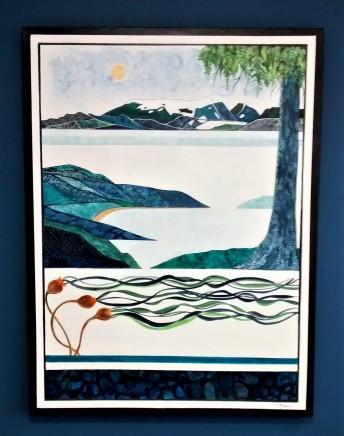 """Sea To Sky. $1295. Acrylic on canvas. 36"""" x 48"""" x 1.5"""" (#1473)"""