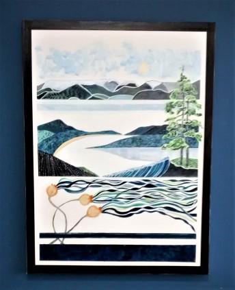 "West Coast Experience. SOLD. Acrylic on canvas. 30"" x 40"" x 1.5"" (#1469)"