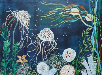 """Dancing in the Deep. $1295. Acrylic on canvas. 48"""" x 36"""" x 1.5"""" (#1474)"""