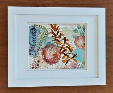 "Autumn Garden. $225. Watercolour. 16"" x 13"". (#1483W)"