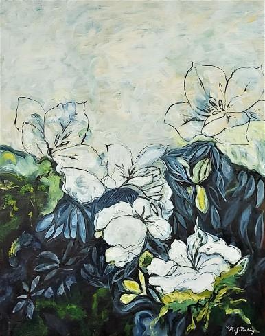 """A Poem For Deborah. $475. Acrylic on canvas. 24"""" x 30"""" x 1.5"""". (#1448)"""