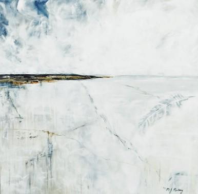 "Stillness. $450. Acrylic on canvas. 24"" x 24"" x 1.5"" (#1492)"