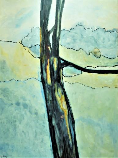 "Truly Brave. $1375. Acrylic on canvas. 36"" x 48"" x 1.5"" (#1488)"